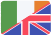 irish and uk flags
