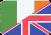 irish and uk flags