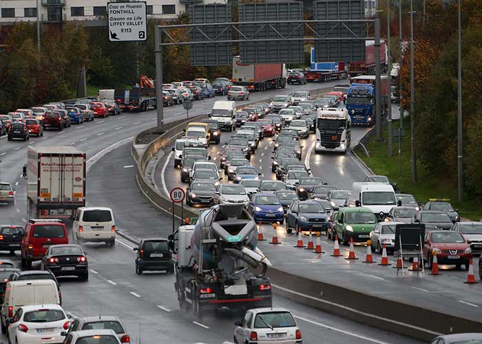 Traffic Chaos On M50
