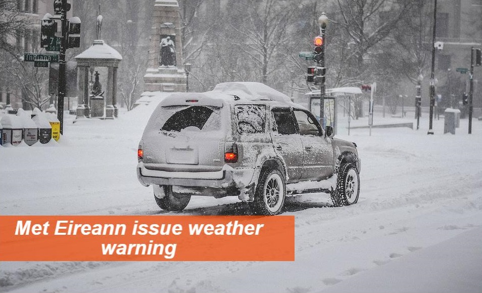 Motorists being warned to slow down as a National Weather Advisory Warning is in effect