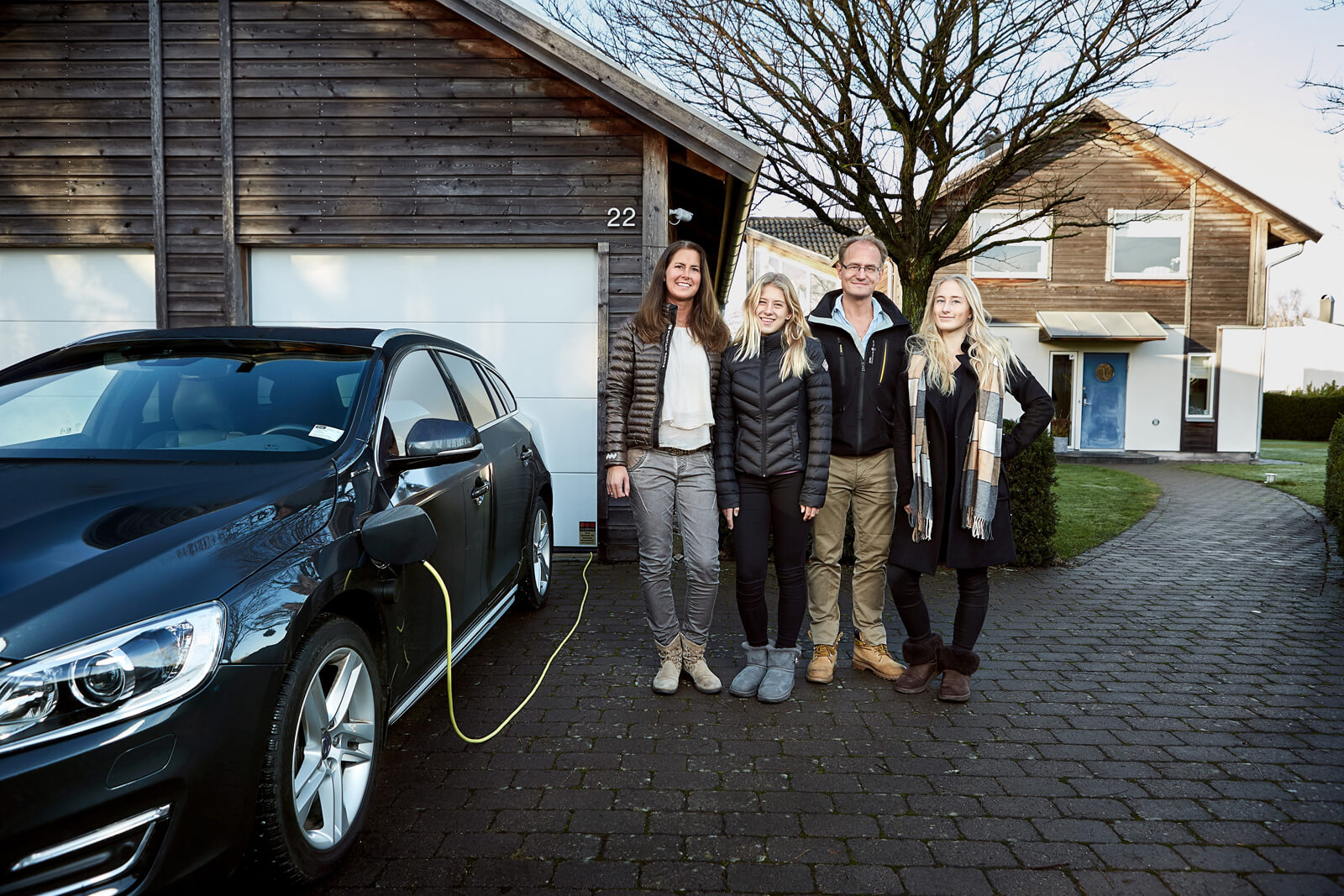 Volvo self driving car being tested on real family