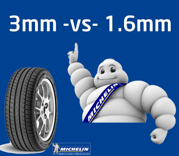 Michelin says NO to changing tyres at 3mm tread depth