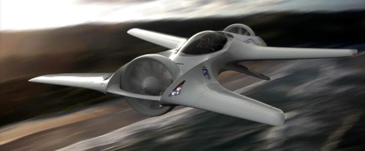 Back to the Future. The new DeLorean flying car