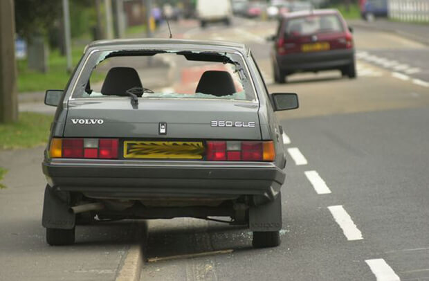 Cars being abandoned on British roads trebles