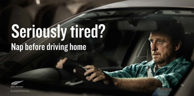 What are the dangers of driving while tired?