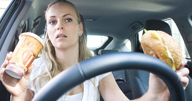 Survey reveals 50% of drivers eat or drink behind the wheel