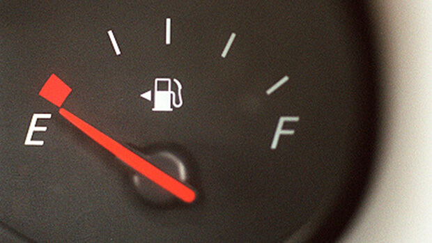 Motoring mystery solved Inventor of that triangle that tells you what side to fill your car up on revealed