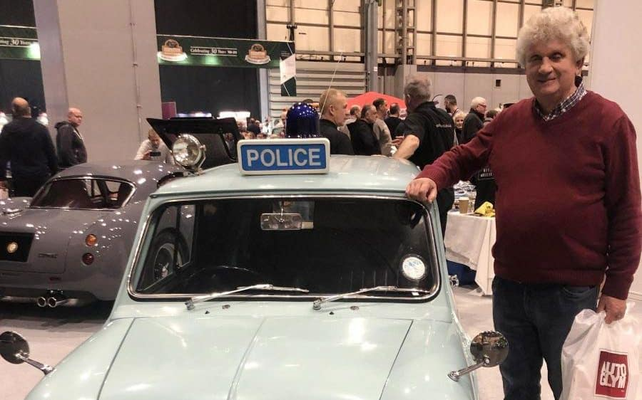 Retired UK Copper stumbles across his old patrol car from the 1970s at a classic car show
