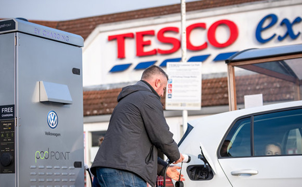 Tesco Ireland may join the UK in expanding its e-car charging network