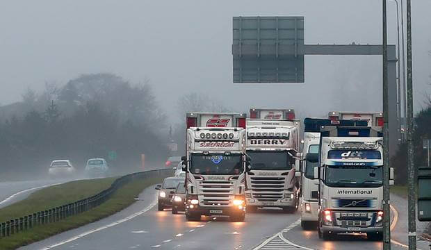 Just 60 trucks allowed to cross the Irish border after Brexit