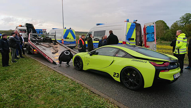 German Police seize 120 sports cars during road race