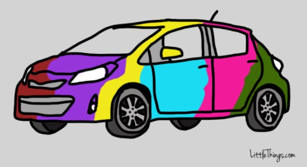 Car colour psychology
