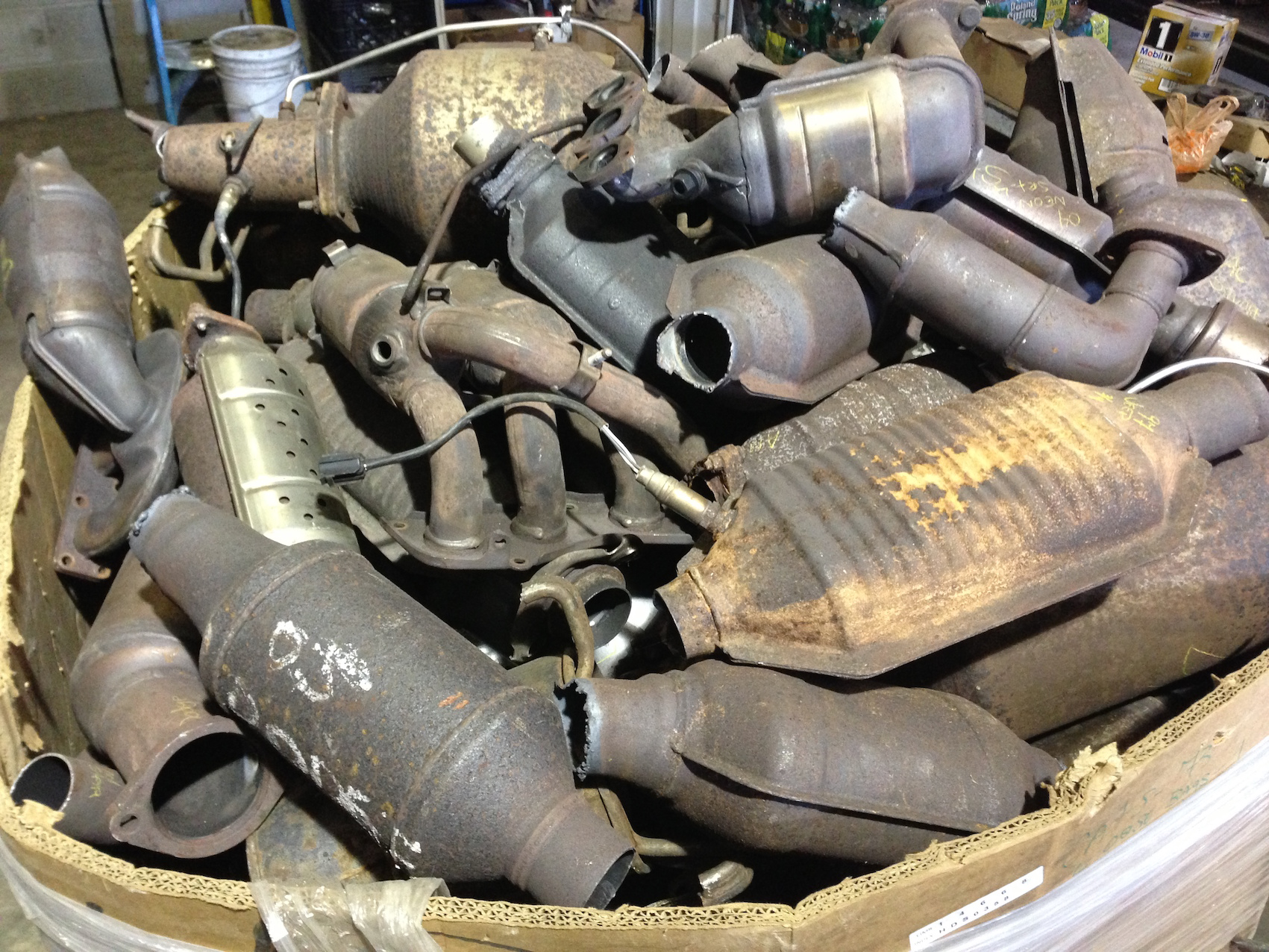 Catalytic converters stolen by criminal gangs