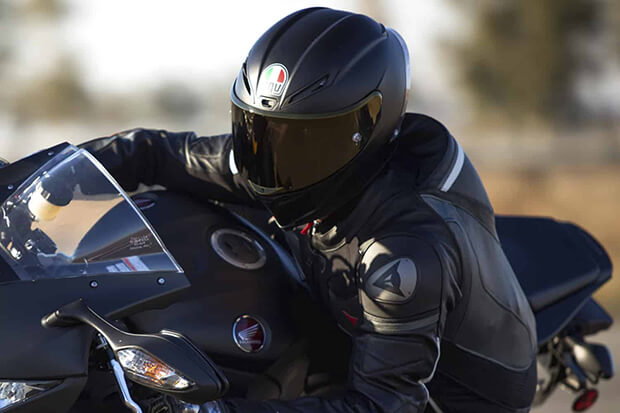 Rider with Full Face Helmet
