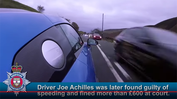 WATCH: UK motoring journalist receives a driving conviction for 100 MPH showoff video
