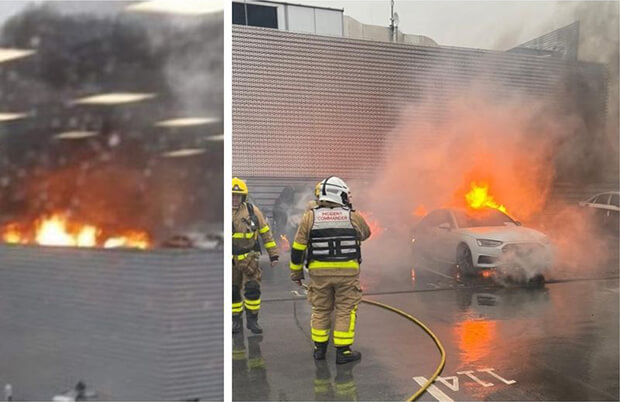 Dublin Fire Brigade rushed to the scene of one of Dublin's top car dealers