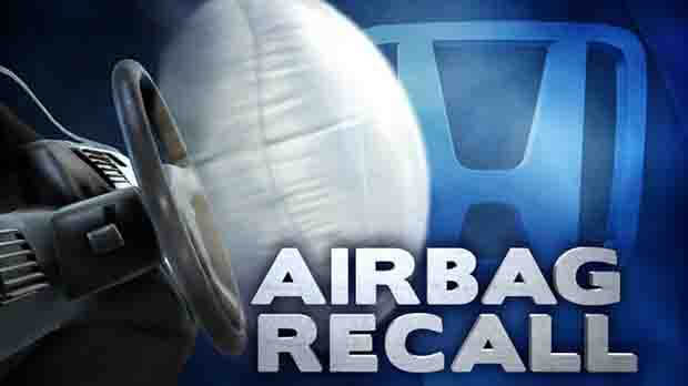 Honda recalls 2.7 million cars over defective airbag inflators