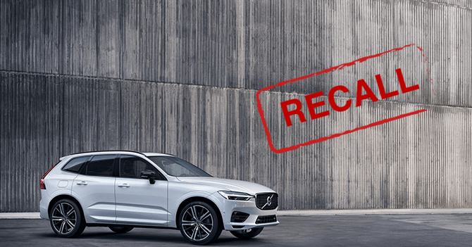 Almost 8,000 Volvo's recalled in Ireland over safety fears