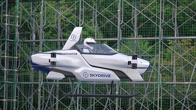 Japan tests its first manned flying car