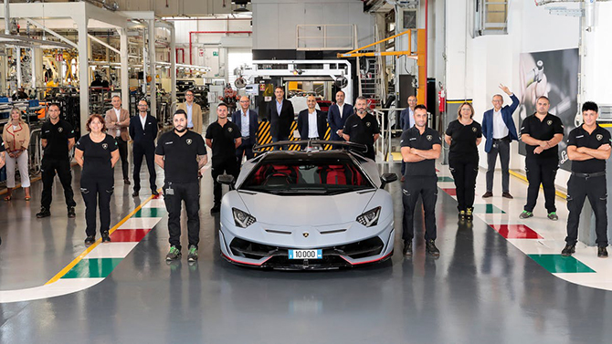 Lamborghini Aventador 10,000th Car Milestone