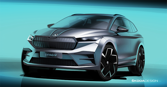 SKODA's new all-electric ENYAQ iV takes the next step in E-Mobility