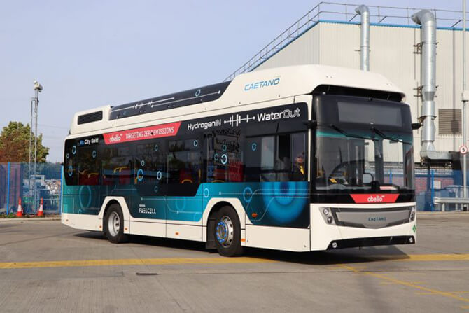 Ireland's first ever Hydrogen Fuel Cell bus hits the streets of Dublin